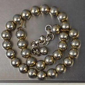 Vintage Sterling Monet Ball Necklace